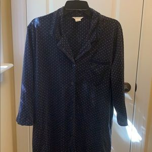Liz Claiborne Navy Blue Nightgown Size XL